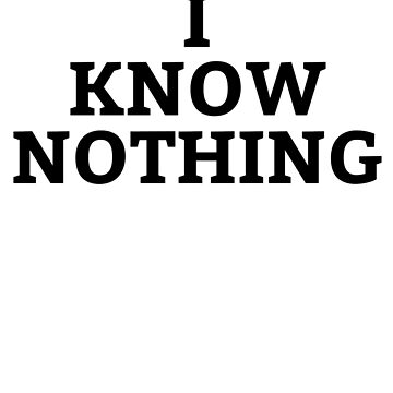 I Know Nothing- Katy Perry Tshirt by travelingpoppy