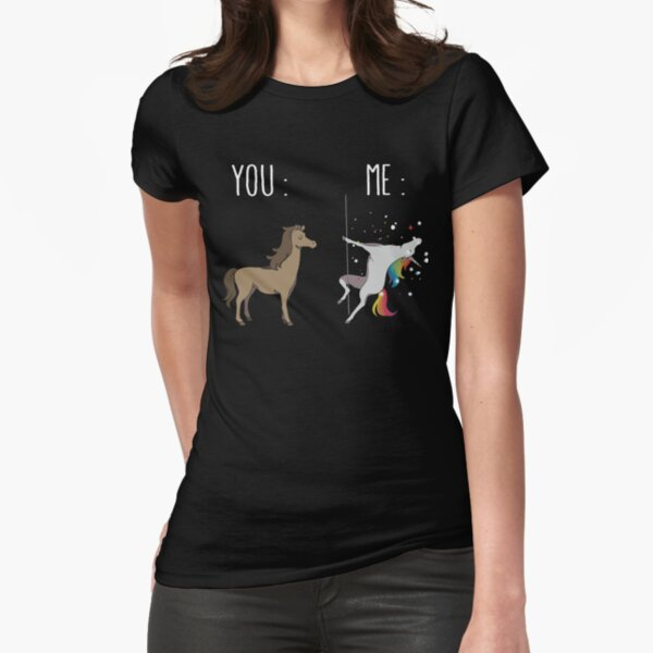 You and me Unicorn Fitted T-Shirt