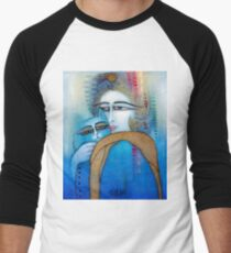 BLUE CAT Men's Baseball ¾ T-Shirt
