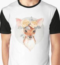 Fawn and yellow roses Graphic T-Shirt