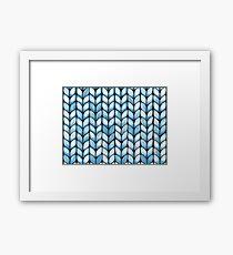 Chunky Aqua Knit Framed Print