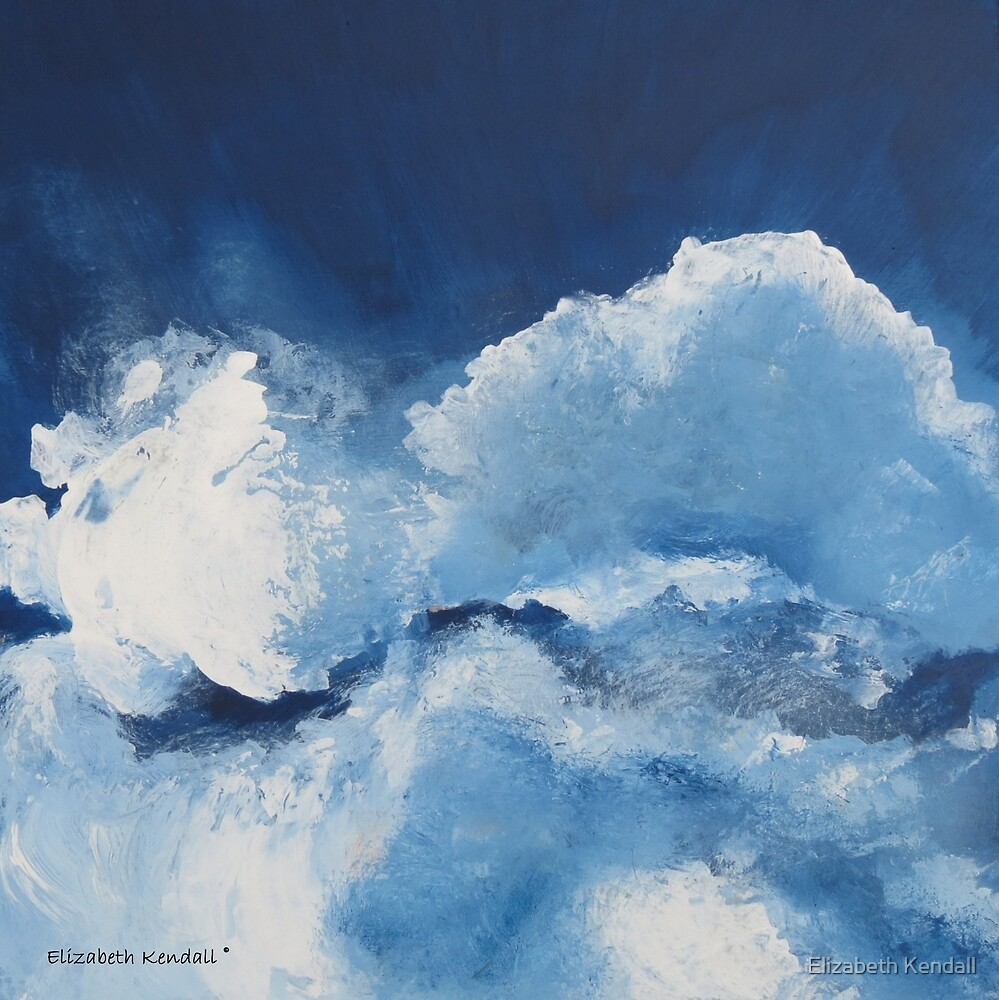 Painting clouds by Elizabeth Kendall