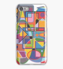 1901 - Brightly Colored Forms In Cooperation iPhone Case/Skin