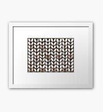 Chunky Latte Knit Framed Print
