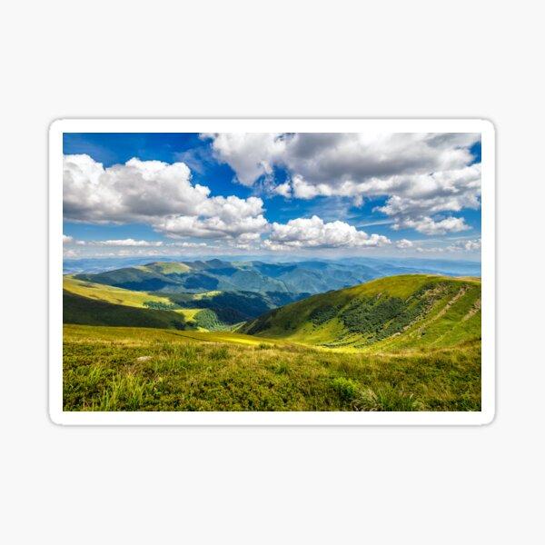 hillside meadow in mountain Sticker