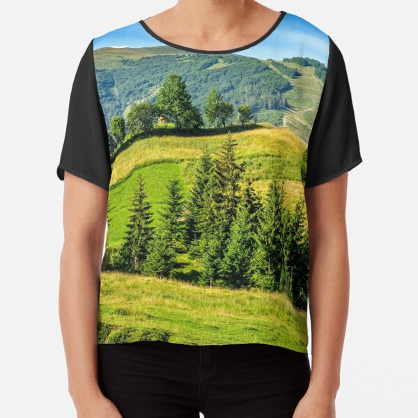 spruce forest near in valley Chiffon Top