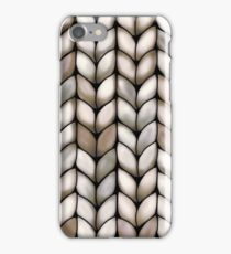 Chunky Latte Knit iPhone Case/Skin
