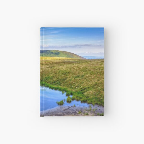 swamp on hill side in mountains Hardcover Journal