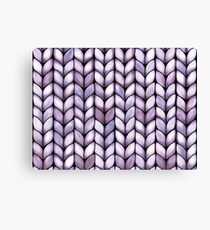 Chunky Lilac Knit Canvas Print