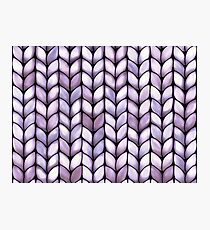 Chunky Lilac Knit Photographic Print