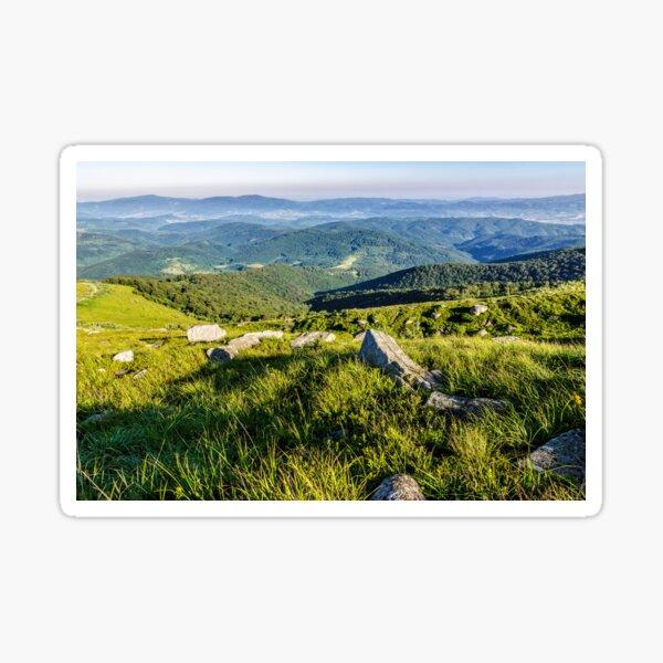 stones on the hill of mountain range Sticker