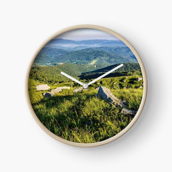 stones on the hill of mountain range Clock
