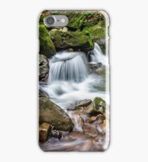 small cascade on the river among bouders iPhone Case/Skin