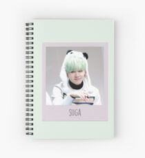 suga with that smile and look on his face fanmeeting polaroid instant camera picture Spiral Notebook