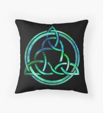 Celtic Trinity Knot Algea Tie Die Throw Pillow