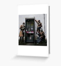 Banksy Telephone Box Greeting Card
