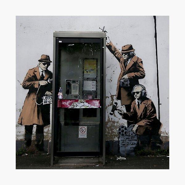 Banksy Telephone Box Photographic Print