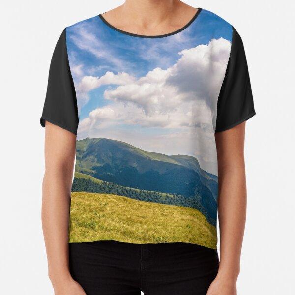 hill side meadow in summer Chiffon Top