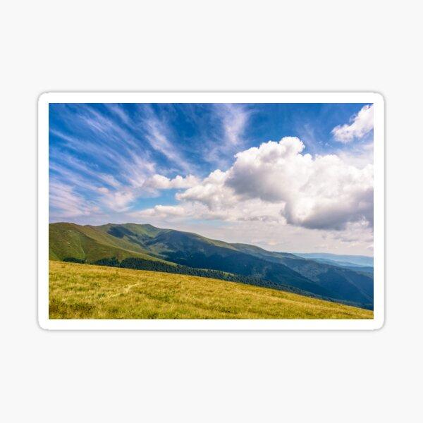 hill side meadow in summer Sticker