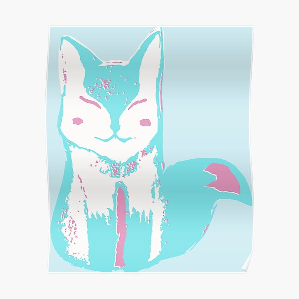 Icy Blue Fox Poster