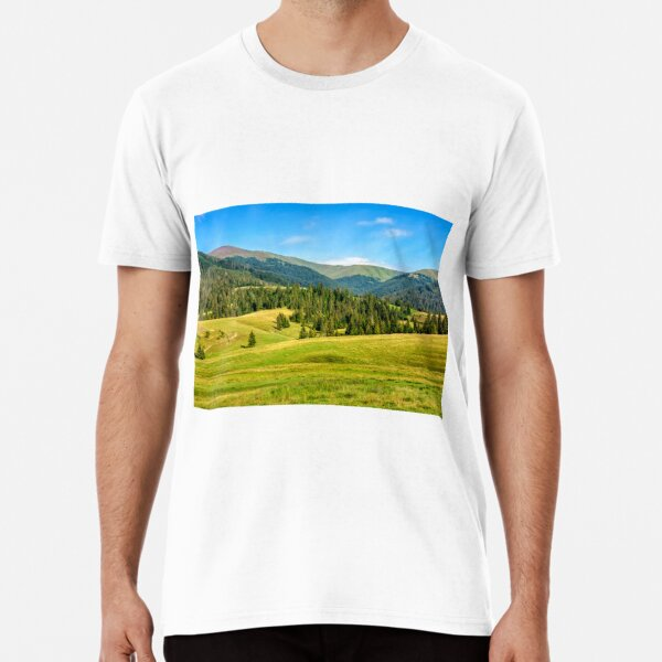 spruce forest on mountain meadow Premium T-Shirt