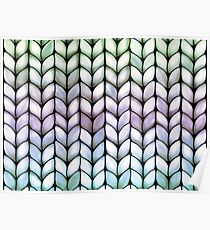 Chunky Lavender Forest Knit Poster