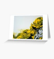 Yellow, black and white fusion Greeting Card