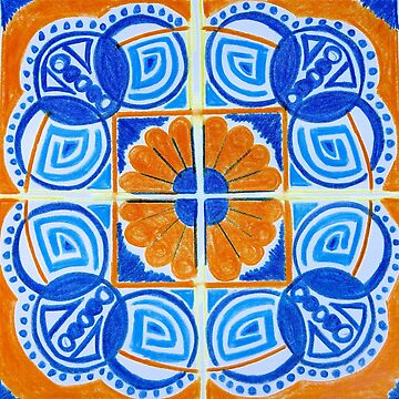 Orange & Blue - Inspired by Azulejos by samby