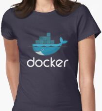 Docker Logo Womens Fitted T-Shirt