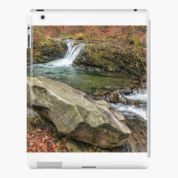 forest river with stones and moss iPad Snap Case