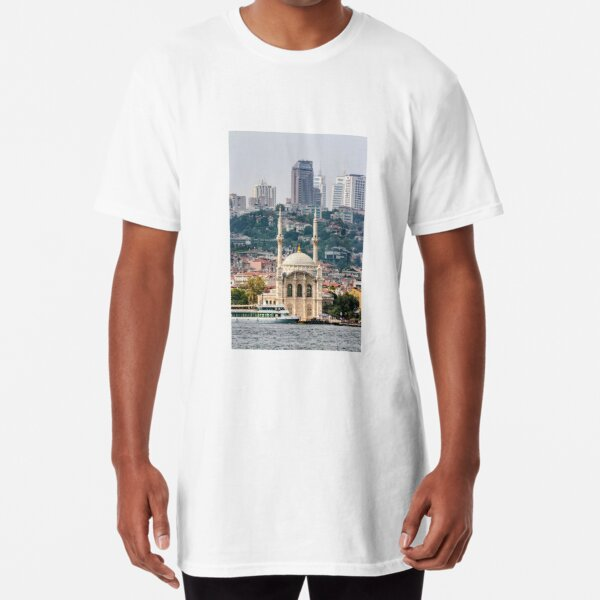 Ortakoy Mosque infront of the Istanbul panorama  Long T-Shirt