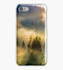 fog in the conifer forest iPhone Case/Skin