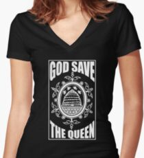 God Save The Queen Bee Shirt Women's Fitted V-Neck T-Shirt