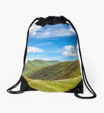 path to the mountain top Drawstring Bag