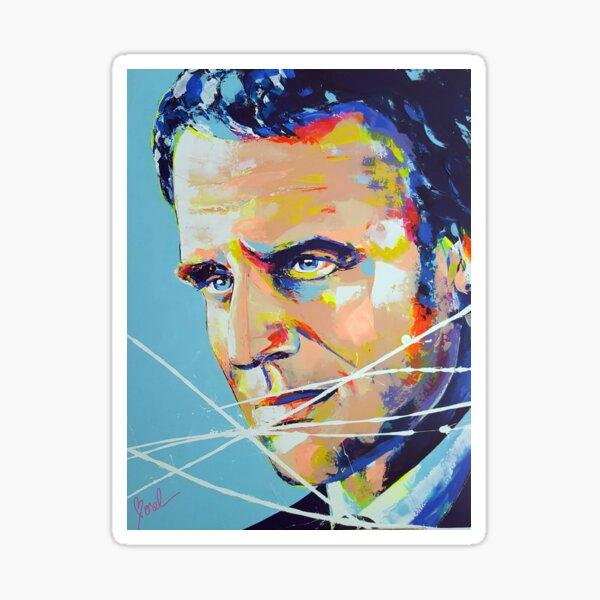 Président Emmanuel Macron Artpainting Sticker