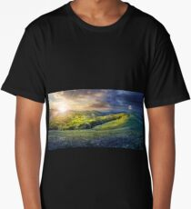 day nad night concept of Rural landscape Long T-Shirt