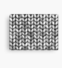 Chunky Charcoal Knit Canvas Print