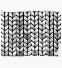 Chunky Charcoal Knit Poster