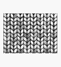 Chunky Charcoal Knit Photographic Print