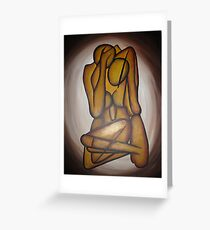 Abstract Lovers Greeting Card