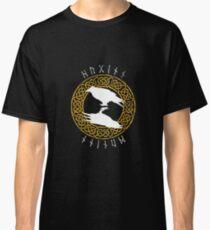 Huginn - reverse gold knotwork Classic T-Shirt