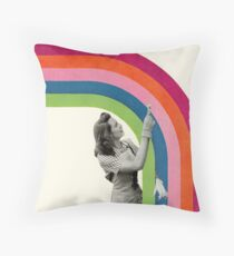 Paint a Rainbow Throw Pillow