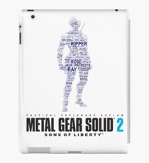 Metal Gear Solid 2 - Sons of Liberty - Raiden Typography  iPad Case/Skin