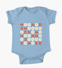 Strawberries and daisies One Piece - Short Sleeve