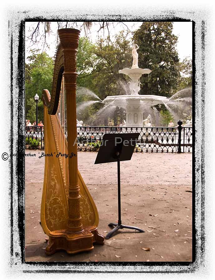 "Harp In Forsyth Park by Arthur ""Butch"" Petty"