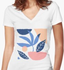 Noon Women's Fitted V-Neck T-Shirt