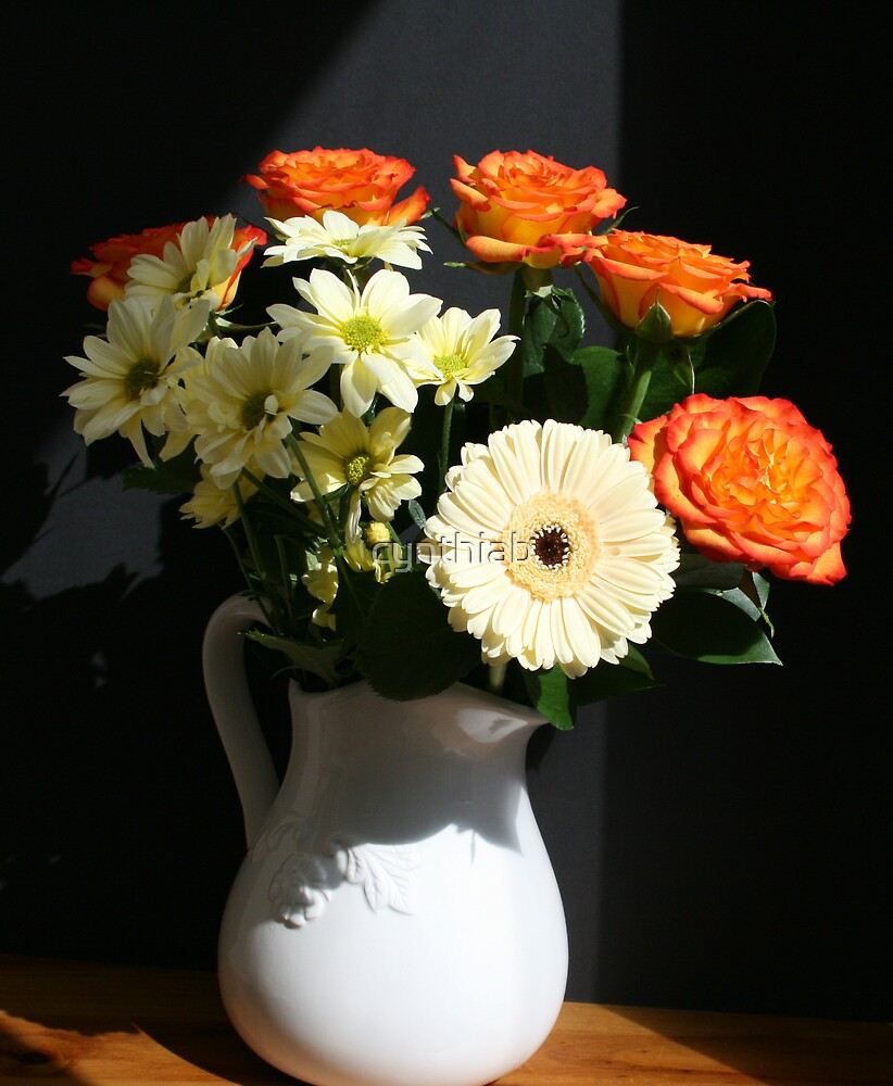 jug of flowers by cynthiab