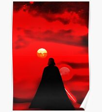 darth vader star wars-logo Poster