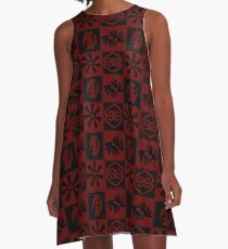 Adinkra symbols A-Line Dress