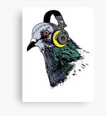 Techno Pigeon v2 Canvas Print